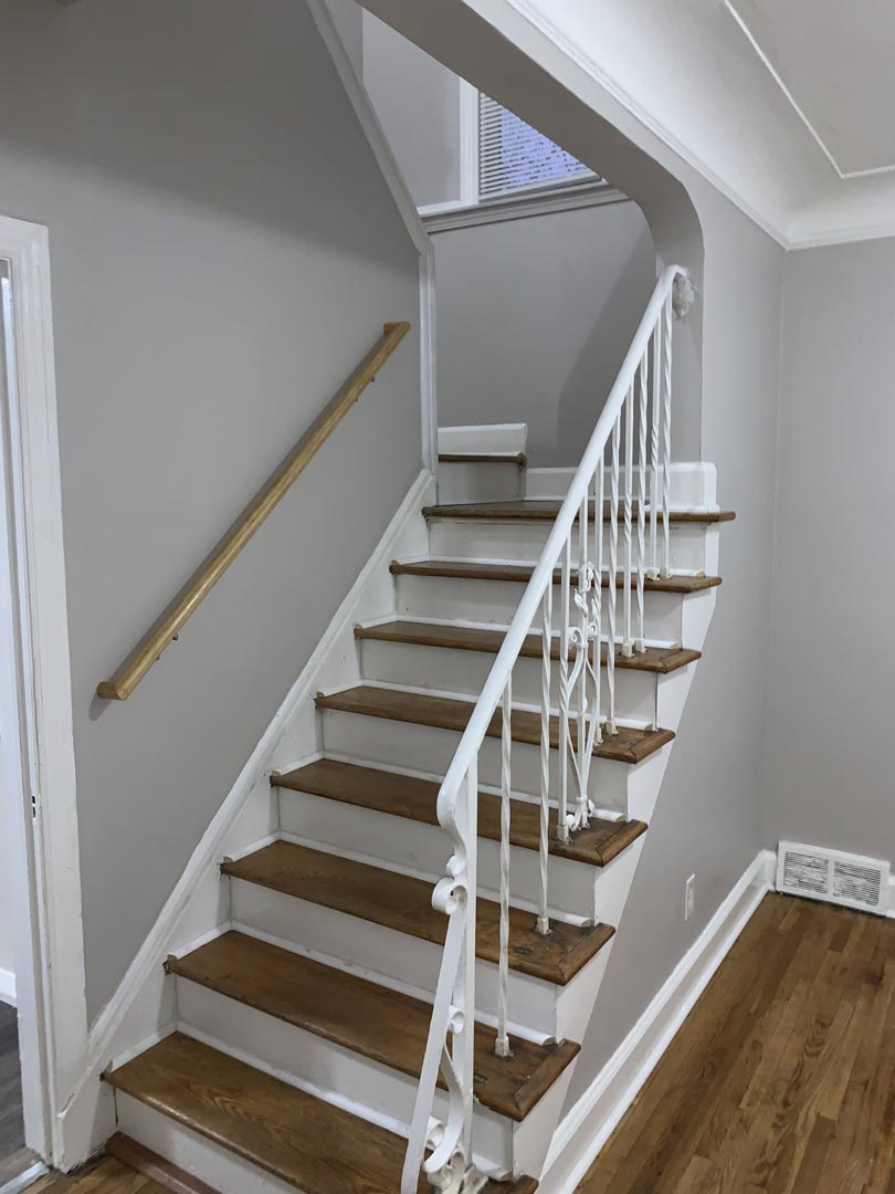updated-staircase-fresh-paint-Detroit-Mi